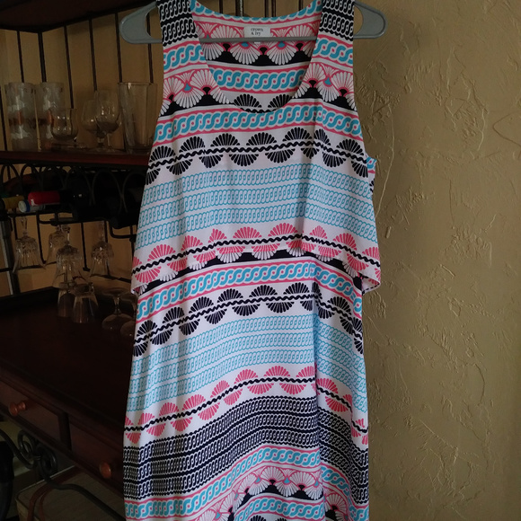 fbf146ad2922e crown & ivy Dresses | Crown Ivy Sleeveless Print Kneelength Dress ...